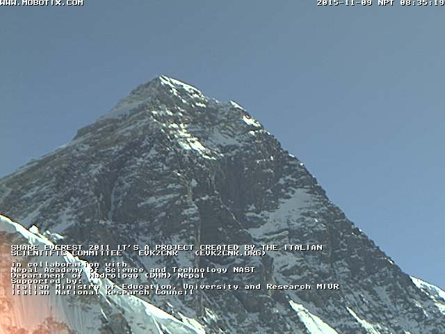 images from Everest webcam