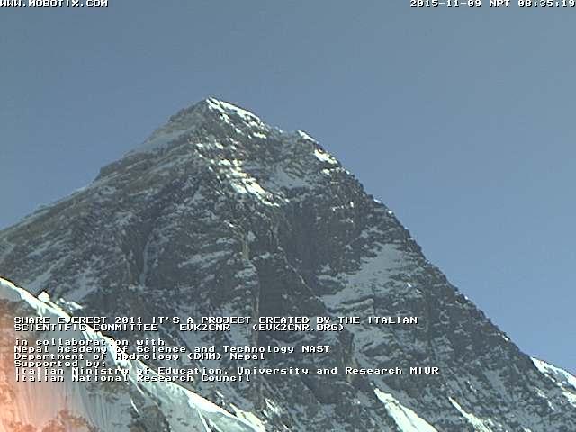 Веб камера на Эвересте в Непале